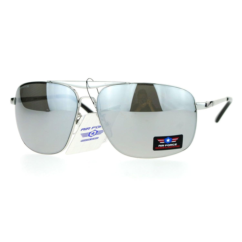 Air Force Aviators Mens Aviator Sunglasses Metal Square Frame UV 400