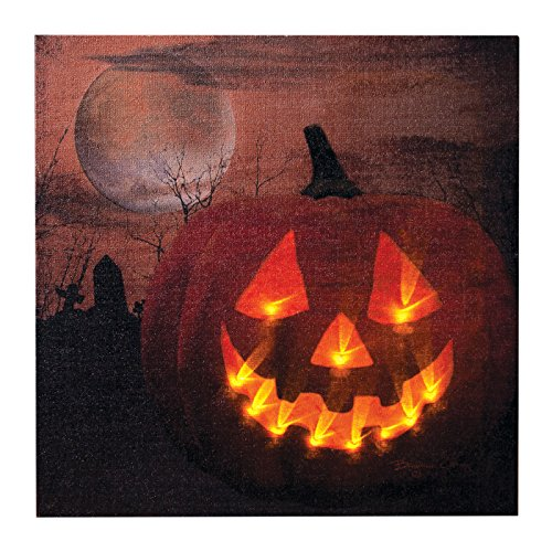 Ohio Wholesale Jack O Lantern Canvas Radiance Lighted Wall Art