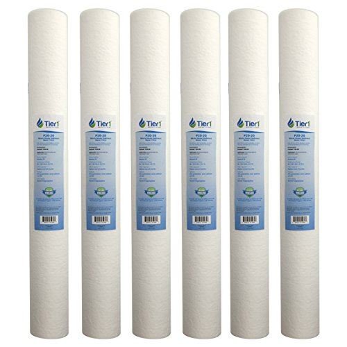 Tier1 P25-20 20 Micron 20 x 2.5 Spun Wound Polypropylene Sediment Purtrex PX20-20 Comparable Replacement Water Filter 6 Pack - 20 Sediment Water Filters