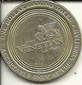 ($1 the venetian casino gaming token coin las vegas nevada obsolete)
