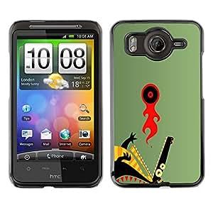 Caucho caso de Shell duro de la cubierta de accesorios de protección BY RAYDREAMMM - HTC G10 - Resumen del dragón