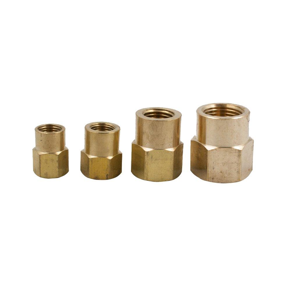 Vis Brass Inverted Flare Tube Fitting, Adapter, 5/16'' OD x 1/8'' NPT Female, Convert Tube to NPT Female Pipe (Pack of 20)