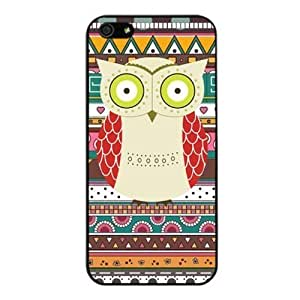 meilz aiai The Colorful Owl Aztec Design Cover Case For iphone 6 plus 5.5 inch(Black) with Best Silicon Rubbermeilz aiai