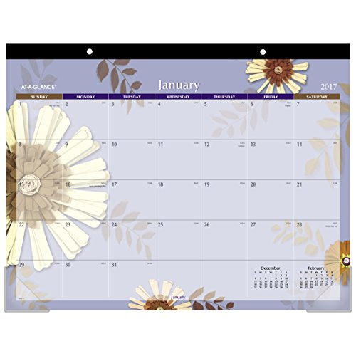 AT-A-GLANCE Desk Pad Calendar 2017, Monthly, 21-3/4 x 17