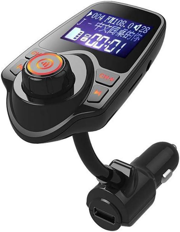 HEHAOYUAN Upgrade Transmisor FM Bluetooth Coche Manos Libres, Mini Transmisor Bluetooth Manos Libres Puerto USB, Reproductor de MP3 Manos Libres para Coche y Llamadas con Manos Libres