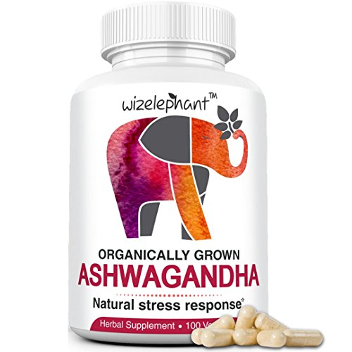 Organic Ashwagandha from India. Extra Strength. Root Powder Veg Capsules. 50-Day Supply. Anti-Anxiety - Stress Relief - Mood Enhancer - Hormonal Balance - Thyroid Support - Better Sleep