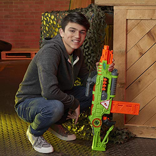 51M1PScPYtL - NERF Revoltinator Zombie Strike Toy Blaster with Motorized Lights Sounds & 18 Official Darts for Kids, Teens, & Adults