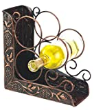 Old Dutch International 9¾ Inch x 4¾ Inch x 10¾ Inch Antique Embossed 3 Bottle Wine Rack Bookend