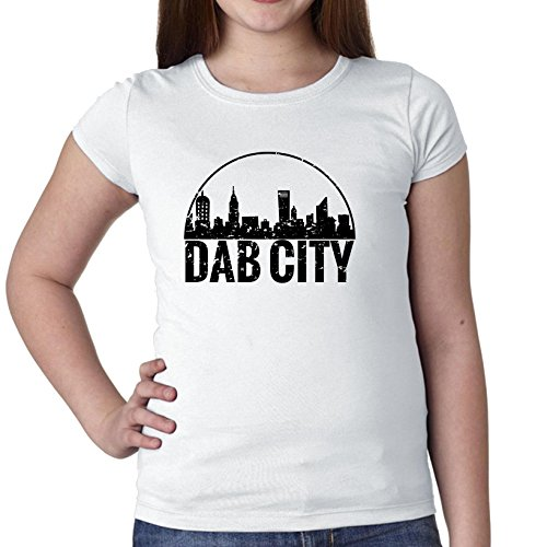 Hollywood Thread DAB City - Dabbing Cityscape Girl's Cotton Youth -