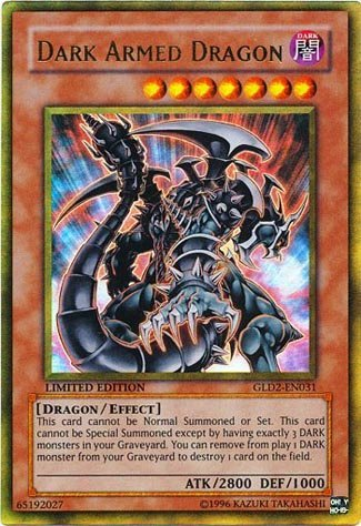 Yu-Gi-Oh! - Dark Armed Dragon (GLD2-EN031) - Gold Series 2 - Limited Edition - Rare (Dark Armed Dragon Gold)