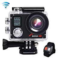 Action Cam,Campark ACT76+ WIFI Sports Camera Ultra HD Waterproof DV Camcorder SONY Sensor and 2 Pcs Rechargeable Batteries