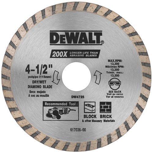 DEWALT DW4725B3 4-1/2-Inch High Performance Diamond Masonry Blade, 3-Pack