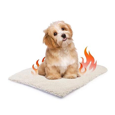 Surenhap Colchón Cama para Perros Manta de Mascotas autocalentable para Gatos y Perros Size S: