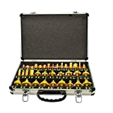 35 Piece 1/4 Shank Router Bit Set With Tungsten Carbide Tips For Use On Wood, Metal, Plastic by Unknown
