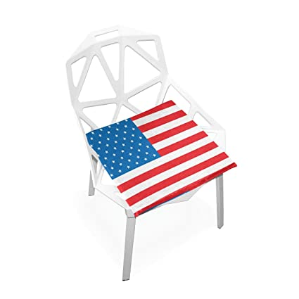 TSWEETHOME Comfort Memory Foam Square Chair Cushion Seat Cushion With American  Flag Chair Pads For Hardwood