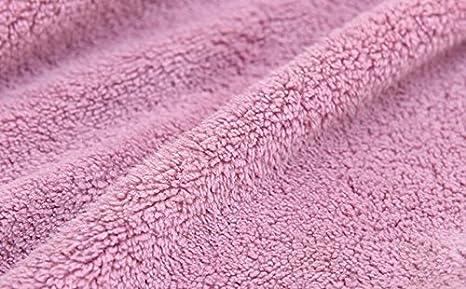 Huertuer velours de corail Serviette de toilette mignon Nœud de salle de bain à suspendre Serviette 40*23cm rose
