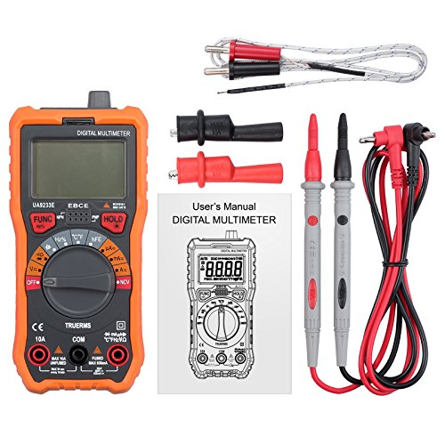 CAMWAY Digital Multimeter 6000 Counts True RMS Auto Ranging NCV AC/DC Voltage Current Resistance Temperature Backlit LCD Multi-Tester Probe & Alligator Clips by CAMWAY (Image #6)