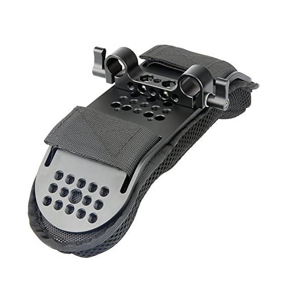 NICEYRIG Steady Shoulder Mount/Shoulder Pad for Video Camcorder Camera DV/DC Support System DSLR Rig (15mm Railblock)