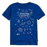 Levi's Big Boys' Graphic T-Shirt, Princess Blue Doodle Print, XL