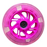 dianpo 2pcs 80-120mm LED Flash Light Up Wheel for Mini Micro Scooter with 2 ABEC-7 Bearings