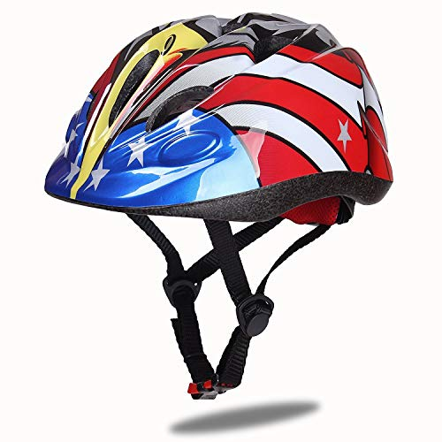 Dostar Kids Bike Helmet - Adjustable Helmet Cycling Scooter Multi-Sport Durable Kid Bicycle Helmets Boys and Girls Will Love - CSPC Certified for Safety and Comfort (Black -Eagle)