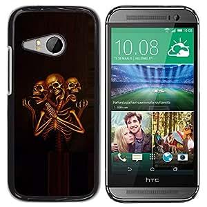 GOODTHINGS ( NO PARA HTC ONE M8 ) Funda Imagen Diseño Carcasa Tapa Trasera Negro Cover Skin Case para HTC ONE MINI 2 / M8 MINI - triste esqueleto muerte rezando