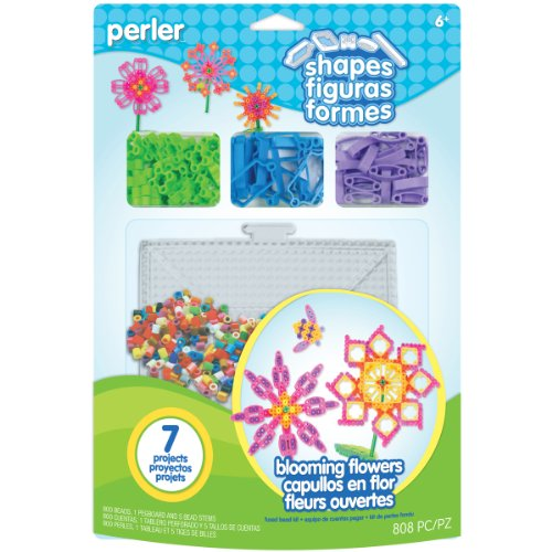 Perler Beads 80-56001 Shapes Fused Bead Kit, Blooming - Stationery Blooming