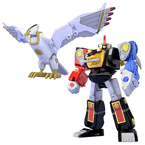 Bandai Shokugan Super Mini PLA Ninja Megazord & White Ninja Falconzord Set Mighty Morphin Alien - Megazord Set