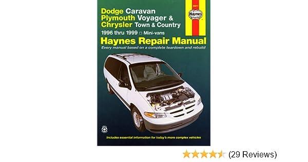 dodge caravan plymouth voyager chrysler town country 1996 rh amazon com 1999 dodge ram 1500 van owners manual pdf 1999 dodge grand caravan owner's manual