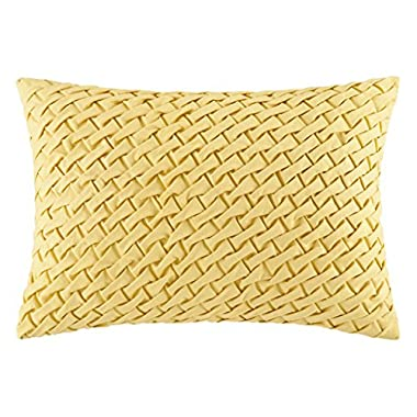 Harbor House Miramar Oblong Pillow, 14 by 20-Inch, Straw