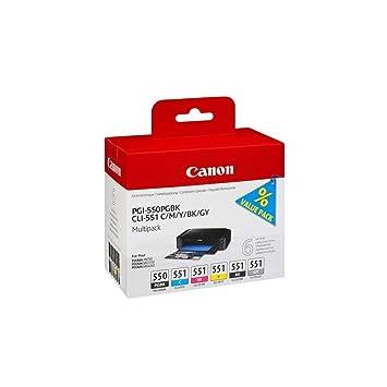 Canon PGI-550+CLI-551 Cartucho Multipack de tinta original BK/C/M ...
