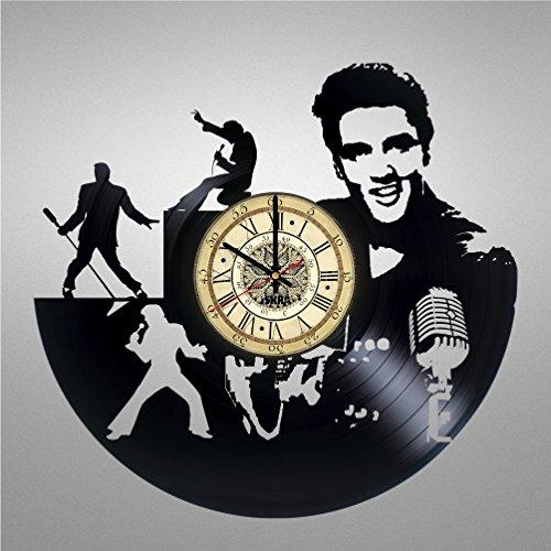 Vinyl Record Wall Clock for Rock'n'roll fans - Get unique living room...