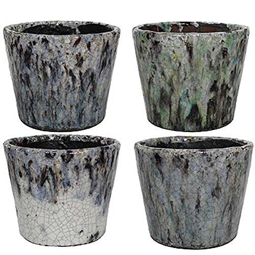 A&B Home Terracotta Planter, Set of 4, 5.5