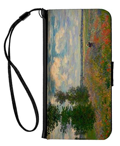 Poppy Field Argenteuil (Rikki Knight iPhone 6 & 6s PU Wallet Flip Case - Poppy Field Argenteuil)