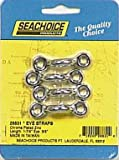 Seachoice Eye Straps Chrome Plated Zinc 1-7/8 In., 1/4 In. 4 / Card