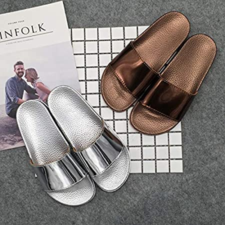 Amazon.com: VT BigHome Women Bling Slides Slippers Sandals Summer Beach Flip Flops Women Comfortable Flat Slip On Shoes Zapatillas casa: Kitchen & Dining