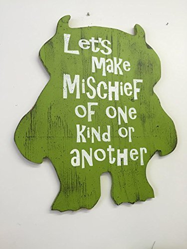Amazon.com: Where The Wild Things Are Wood Monster Cutout, Nursery ...