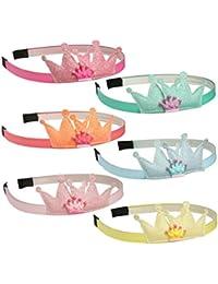 6pcs Sequin Crown Hairbands Girls Mini Cartoon Head Bands...