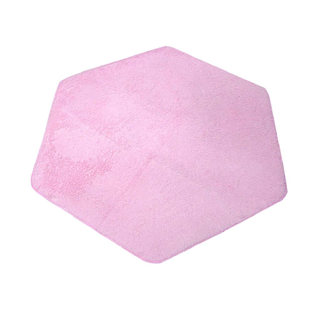 Child Playhouse Pink Castle Tent Carpet Rug Floor Game Cushion Toy Hexagonal