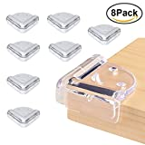 Baby Corner Guards Clear Corner Protectors   Baby Safety Edge Corner Guards   Stop Child Head Injuries & High Resistant Adhesive Gel   Tables, Furniture & Sharp Corners Baby Proofing Protectors (8Pack