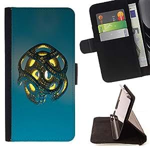 For Sony Xperia Z1 L39 Case , Metal abstracto- la tarjeta de Crédito Slots PU Funda de cuero Monedero caso cubierta de piel