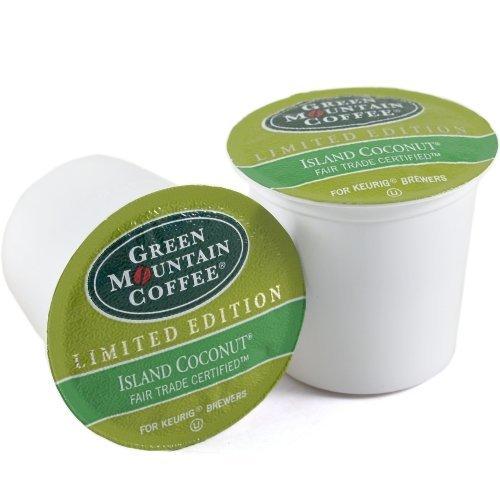 Green Mountain Isle Coconut Coffee Keurig K-Cups, 180 Count