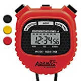 stopwatch - MARATHON Adanac 3000 Digital Stopwatch Timer with Extra Large Display and Buttons, Water Resistant (Red, 1)