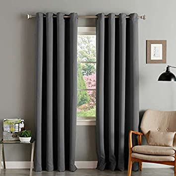 Amazon.com: Aurora Home Thermal Insulated Blackout Grommet Top 84 ...