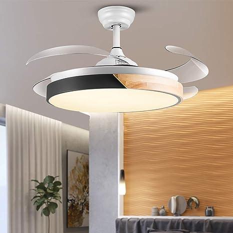 WWLONG Ventilador de Techo Ventilador de Techo Invisible luz ...