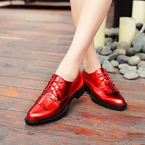 Mujer Con Zapatos Múltiples Red Zapatos Colores MUYII Con Tendencias Para Cordones aZc7xIq