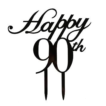 Amazon Happy 90th Cake Topper Birthday Wedding