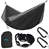 F.DORLA Camping Hammock, Ultra-Lightweight Parachute Suspension bed, Portable, 2 Person Backpacking Hammock For Outdoor Traveling, Hiking, Jungle, Beach, backyard