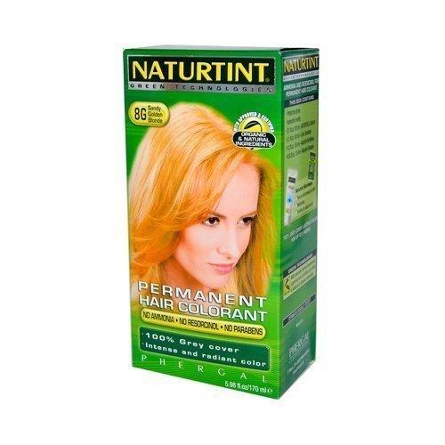 Naturtint Permanent Hair Colorant, 8g Sandy Golden Blonde 5.4 Fl Oz (155 Ml)
