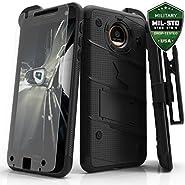 Motorola Moto Z Case, Zizo [Bolt Series] with FREE [Moto Z Screen Protector] Kickstand [Military Grade Drop Tested] Holster Belt Clip- Motorola Moto Z